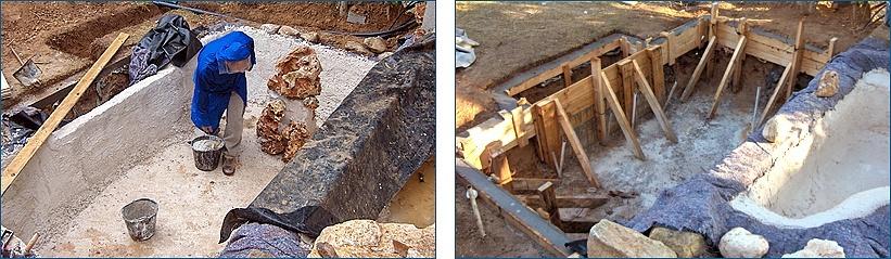 בניית אלמנט מים טבעי בשני מפלסים